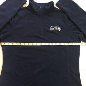 NFL Tops - Seattle Seahawks Women's 1/4 Zip Fleece (Large)